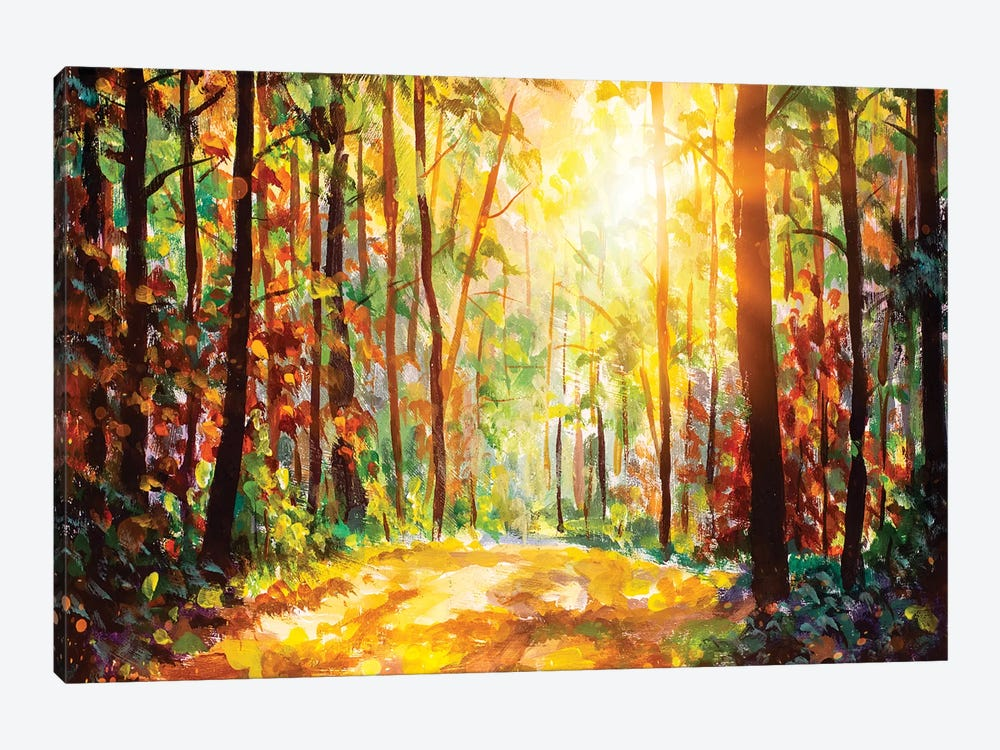 Vivid Morning In Colorful Forest by Valery Rybakow 1-piece Canvas Print