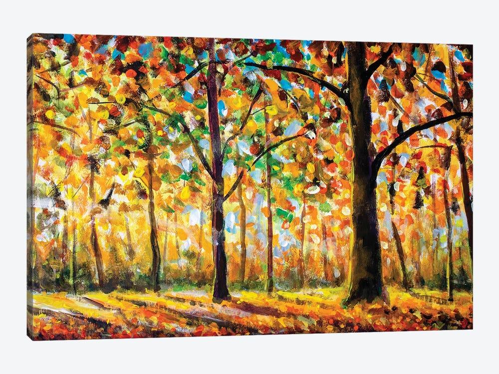 Autumn Forest Landscape by Valery Rybakow 1-piece Canvas Artwork
