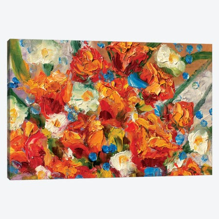 Delicate Flowers Canvas Print #VRY25} by Valery Rybakow Canvas Print