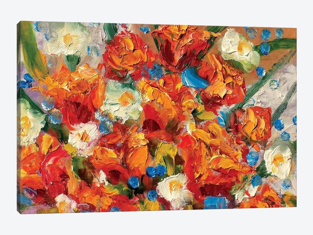 Delicate Flowers by Valery Rybakow 1-piece Canvas Print