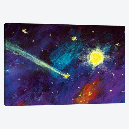 Dream Falling Comet In Sky Canvas Print #VRY26} by Valery Rybakow Art Print