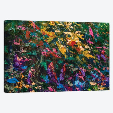 Red Blue Violet Abstract Flowers Painting Canvas Print #VRY273} by Valery Rybakow Art Print