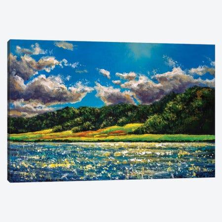 Beautiful Sunny Island In The Ocean Canvas Print #VRY277} by Valery Rybakow Canvas Wall Art