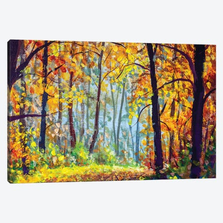 Autumn Forest. Canvas Print #VRY280} by Valery Rybakow Canvas Artwork