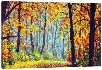 Autumn Forest. Canvas Art Print
