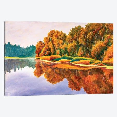 Autumn On River. Canvas Print #VRY291} by Valery Rybakow Art Print