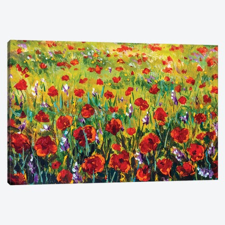 Flower Field Canvas Print #VRY292} by Valery Rybakow Canvas Print