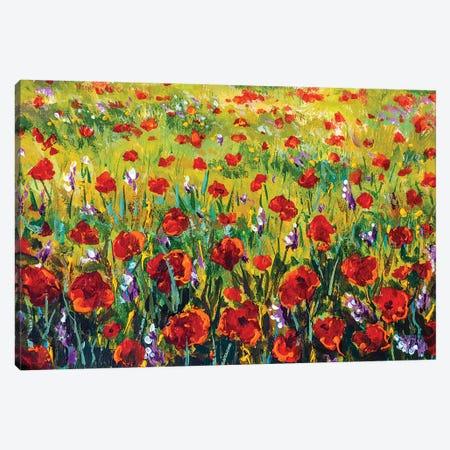 Flower Field Canvas Print #VRY292} by Valery Rybakow Canvas Print