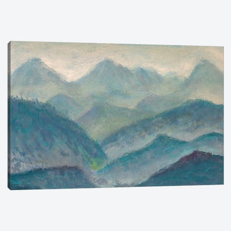 Beautiful Mountain Landscape Painting Canvas Print #VRY297} by Valery Rybakow Canvas Artwork