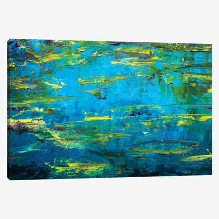 Abstract Claude Monet Pond Canvas Print #VRY2} by Valery Rybakow Canvas Art