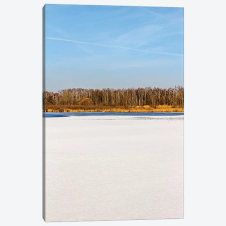 Blue Sky, Yellow Forest In Distance Canvas Print #VRY307} by Valery Rybakow Canvas Artwork