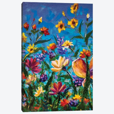 Beautiful Field Flowers Canvas Print #VRY328} by Valery Rybakow Canvas Print