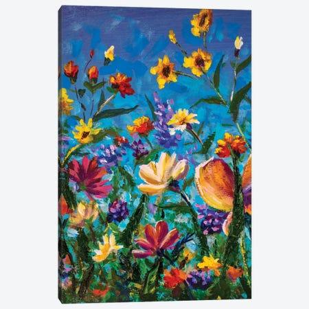 Beautiful Field Flowers Canvas Print #VRY328} by Valery Rybakow Canvas Print