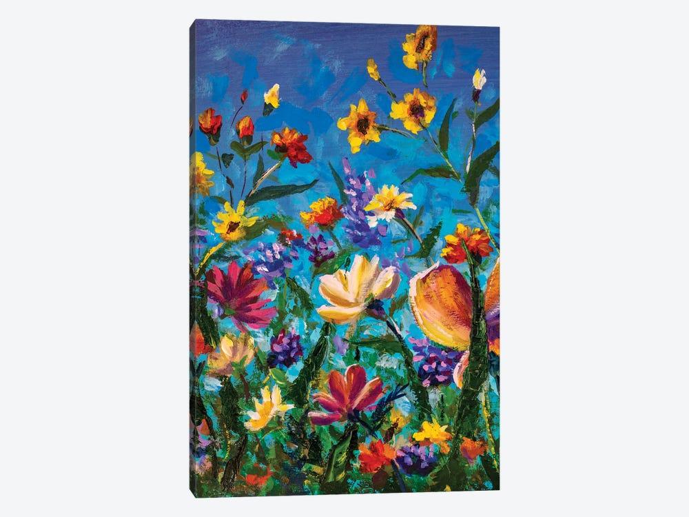 Beautiful Field Flowers by Valery Rybakow 1-piece Canvas Art