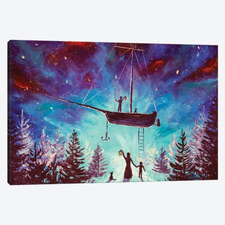 The Family Meets After A Galactic Journey Canvas Print #VRY343} by Valery Rybakow Canvas Art Print