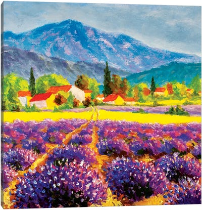 Rural Landscape In Summer Day In Provence, France Canvas Art Print