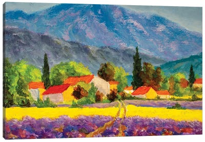 Rural Countryside In Spring Or Summer. Canvas Art Print