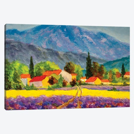 Rural Countryside In Spring Or Summer. Canvas Print #VRY362} by Valery Rybakow Art Print