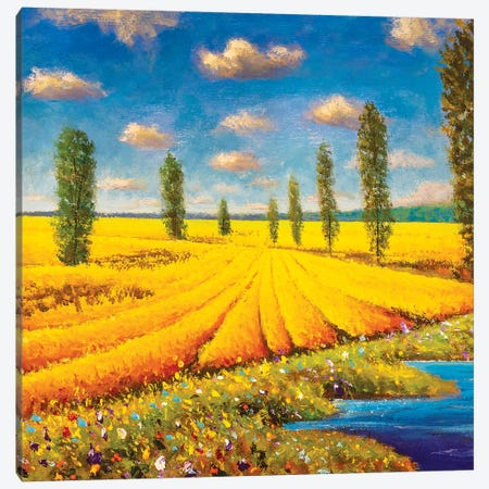 Warm Summer Landscape Canvas Print #VRY368} by Valery Rybakow Art Print