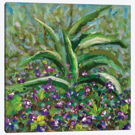 Flowers Oil Painting Spring Landscape Art Canvas Print #VRY378} by Valery Rybakow Canvas Wall Art