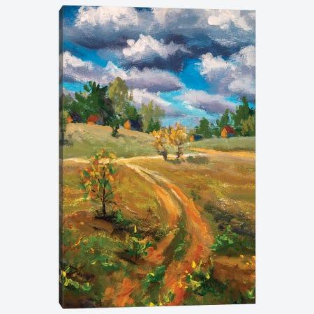 Spring Village Rural Farm Landscape Canvas Print #VRY381} by Valery Rybakow Canvas Art Print