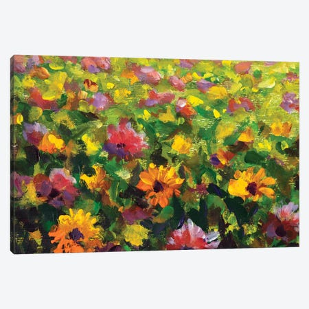 Flower Meadow 3-Piece Canvas #VRY383} by Valery Rybakow Canvas Print