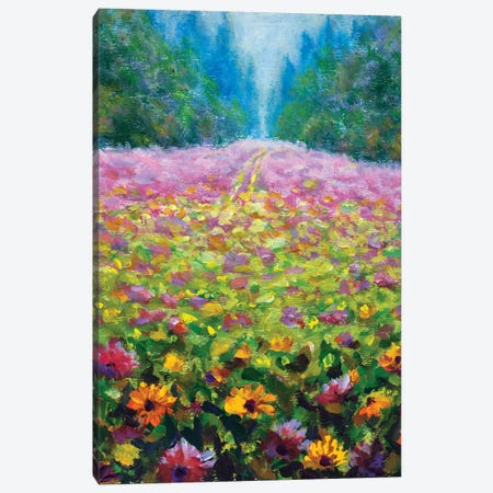Wildflowers Canvas Print #VRY384} by Valery Rybakow Canvas Artwork