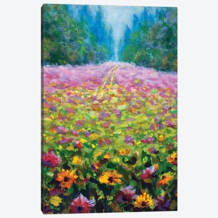 Wildflowers Canvas Print #VRY384} by Valery Rybakow Canvas Artwork