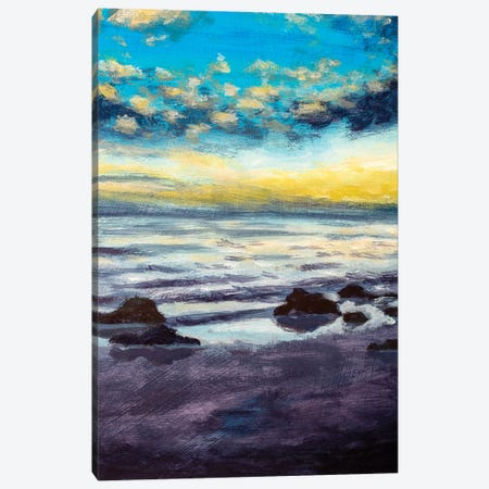 Evening Beach Canvas Print #VRY398} by Valery Rybakow Canvas Artwork