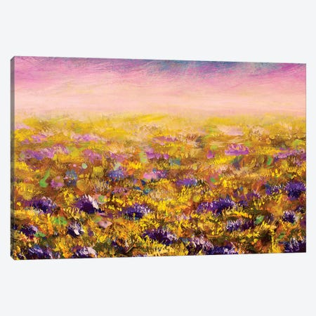 Abstract Flowers Field 3-Piece Canvas #VRY3} by Valery Rybakow Canvas Wall Art