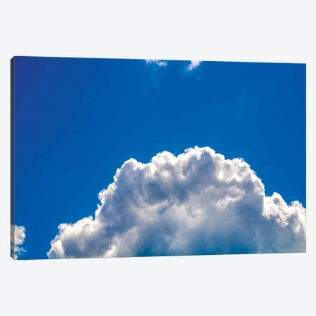 Close-up cumulus cloud with blue sky 3-Piece Canvas #VRY406} by Valery Rybakow Canvas Print