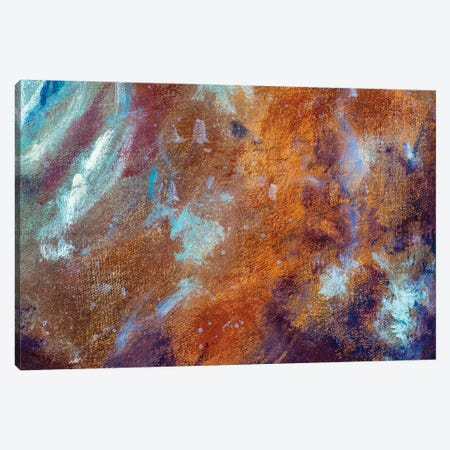 Abstract cosmos universe river lake clouds modern textural painting Canvas Print #VRY415} by Valery Rybakow Canvas Art