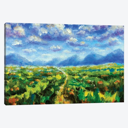 Big fluffy clouds over the mountains Canvas Print #VRY418} by Valery Rybakow Canvas Print