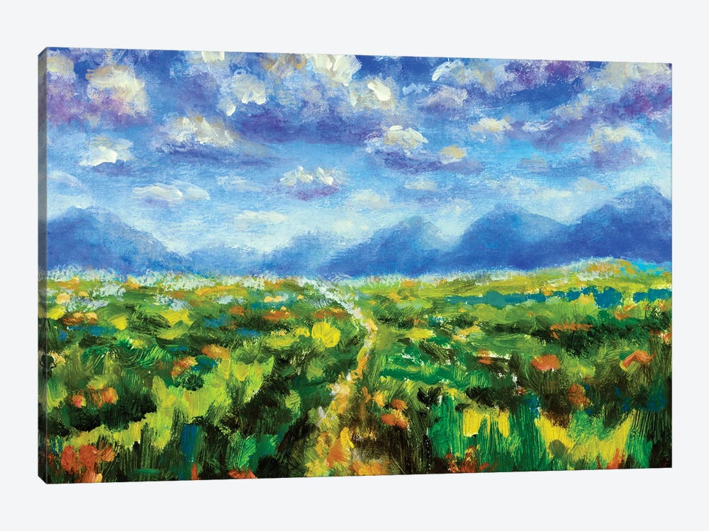 Big fluffy clouds over the mountains by Valery Rybakow 1-piece Canvas Wall Art