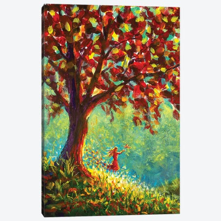 Girl In Nature Canvas Print #VRY41} by Valery Rybakow Canvas Wall Art