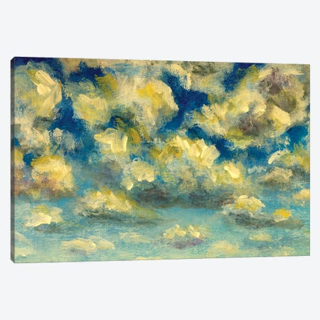 Puffy clouds and blue sky in sunny day Canvas Print #VRY420} by Valery Rybakow Canvas Artwork
