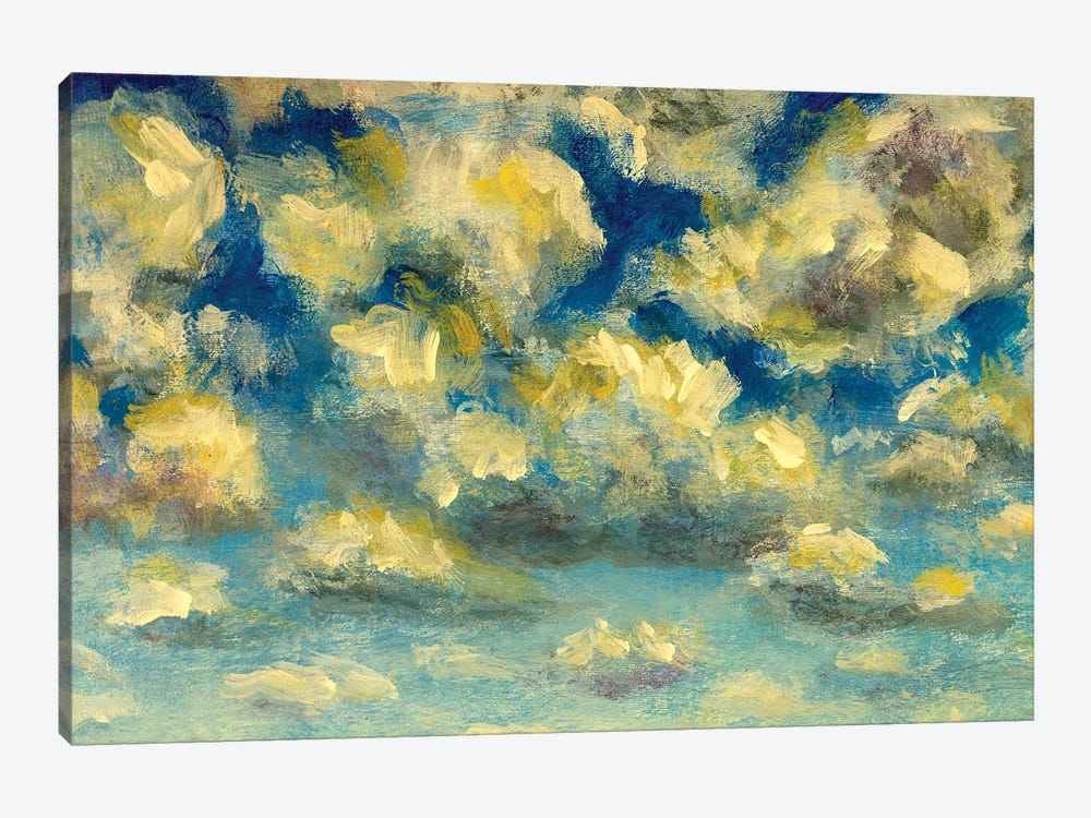 Puffy clouds and blue sky in sunny day by Valery Rybakow 1-piece Canvas Print