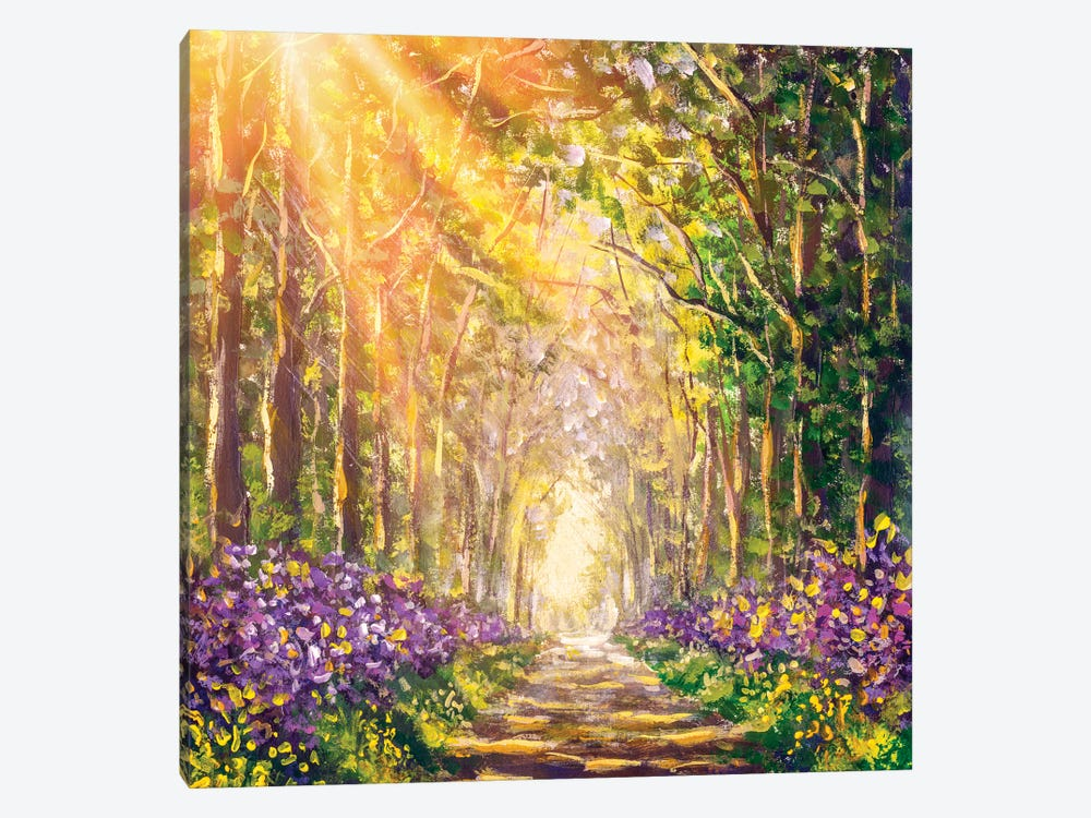 Spring Sunny Summer Forest by Valery Rybakow 1-piece Canvas Print