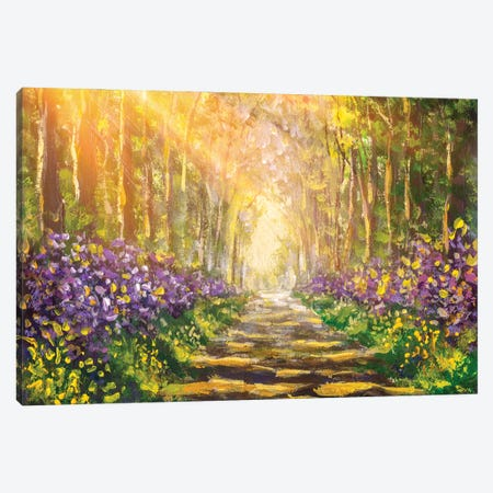 Forest Landscape Canvas Print #VRY425} by Valery Rybakow Canvas Art Print