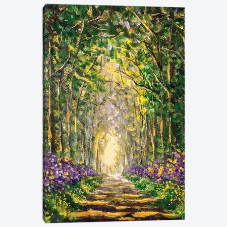 Sunny Footpath Road In Sunlight Park Canvas Print #VRY426} by Valery Rybakow Canvas Art Print