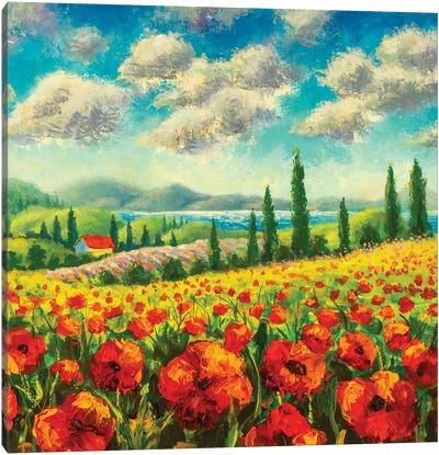 Summer Sunny Positive Landscape Fine Art Canvas Art Print