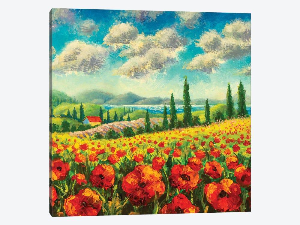 Summer Sunny Positive Landscape Fine Art by Valery Rybakow 1-piece Canvas Print