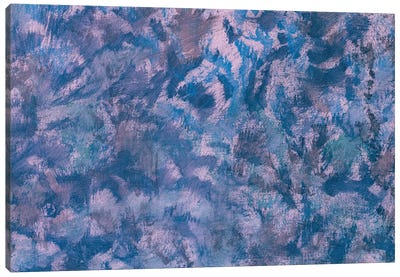 Blue Oil Painting Watercolor Retro Abstract Art Canvas Art Print
