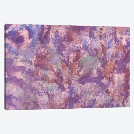 Pink Violet Oil Painting Abstract Art Canvas Print #VRY433} by Valery Rybakow Canvas Art Print