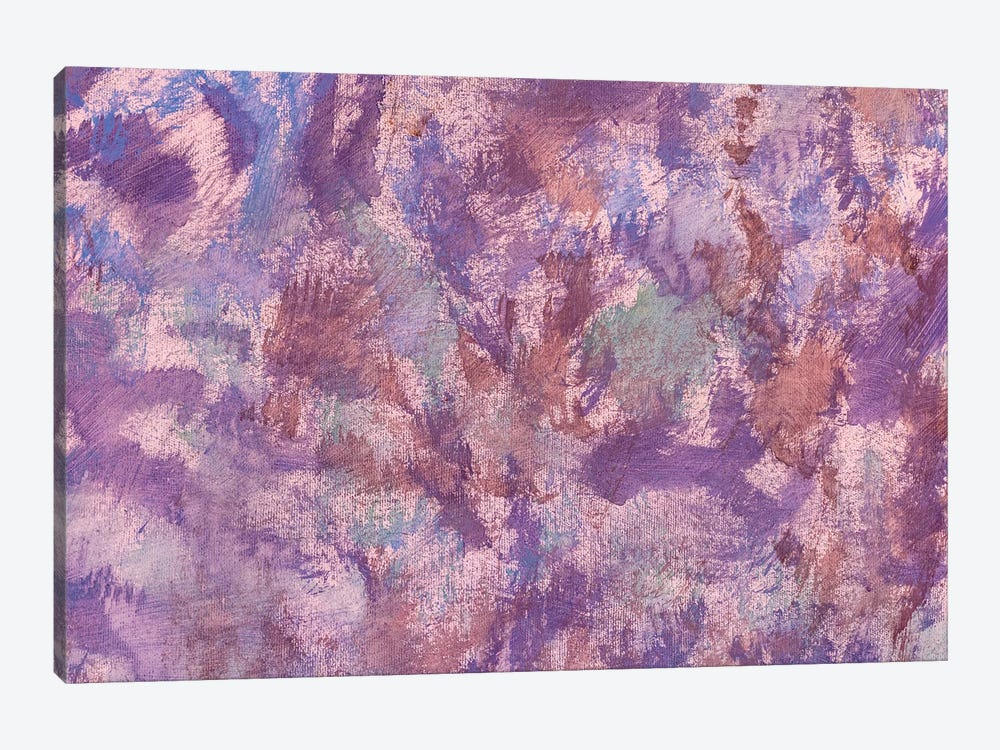 Pink Violet Oil Painting Abstract Art by Valery Rybakow 1-piece Canvas Print