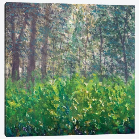 Abstract Green Forest Canvas Print #VRY434} by Valery Rybakow Canvas Art