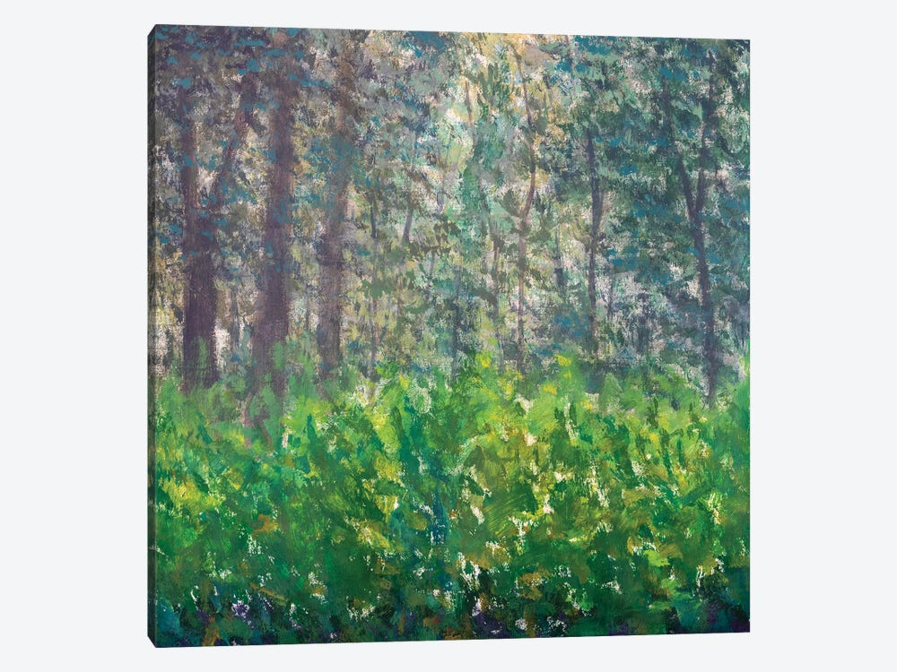 Abstract Green Forest by Valery Rybakow 1-piece Canvas Wall Art