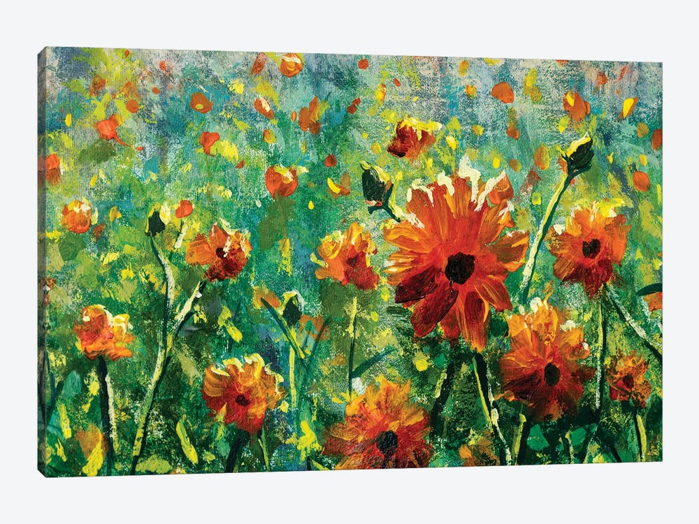Beautiful Flower Field Close-Up by Valery Rybakow 1-piece Canvas Art Print