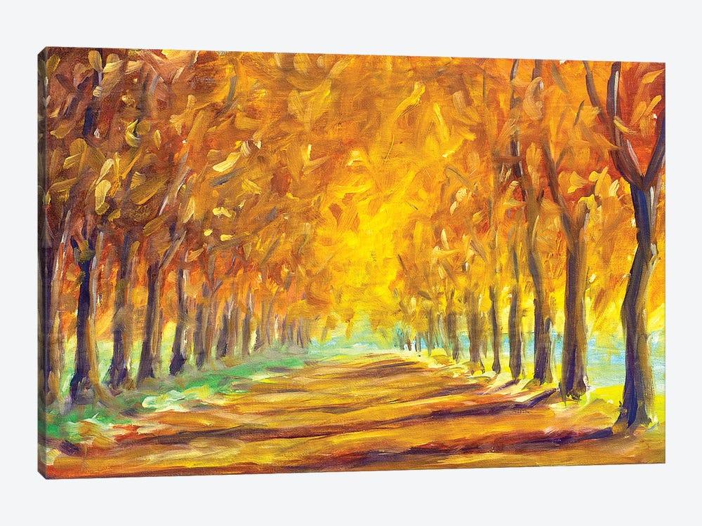 Gold Autumn Alley by Valery Rybakow 1-piece Canvas Artwork