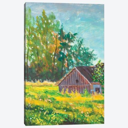 Rural Village Landscape Illustration Canvas Print #VRY453} by Valery Rybakow Canvas Art Print